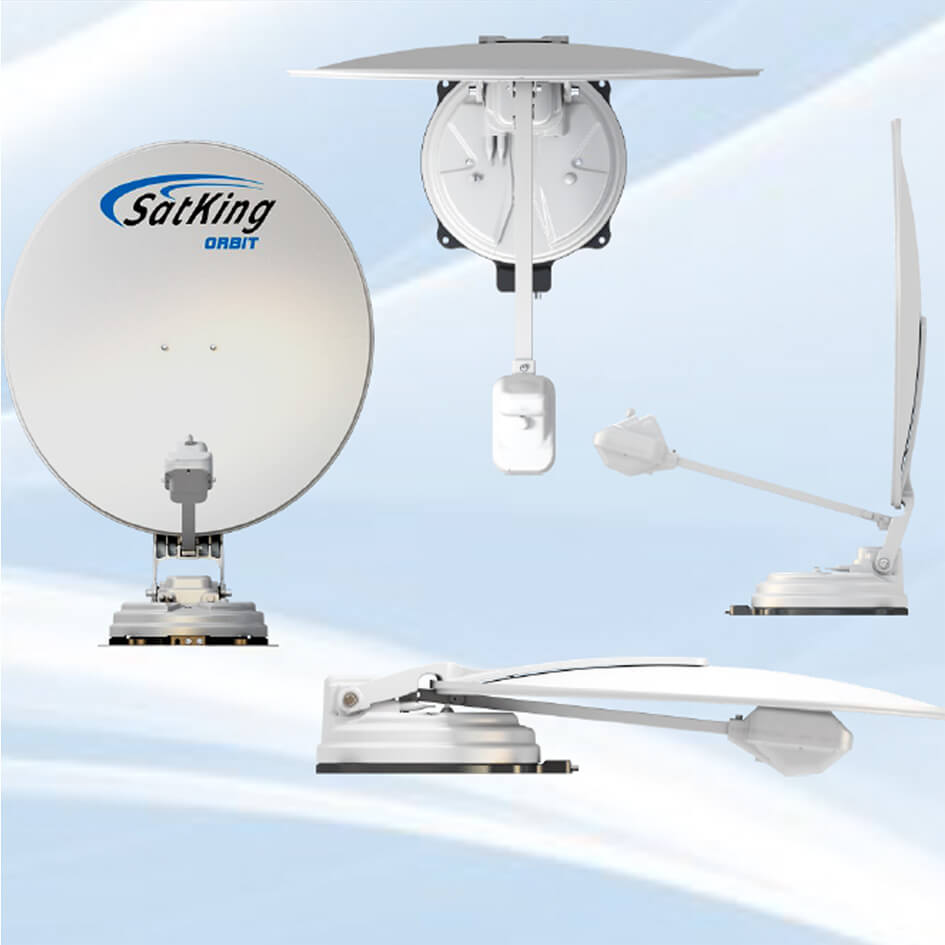 satking orbit caravan automatic satellite tv dish