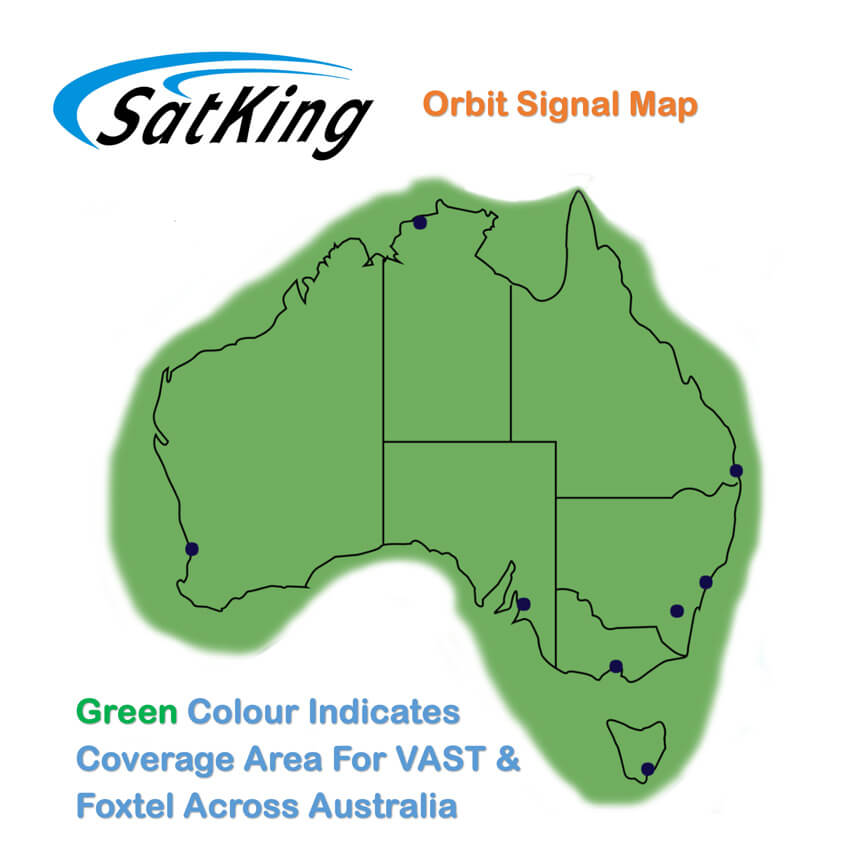 SatkingOrbit Dish Coverage Map