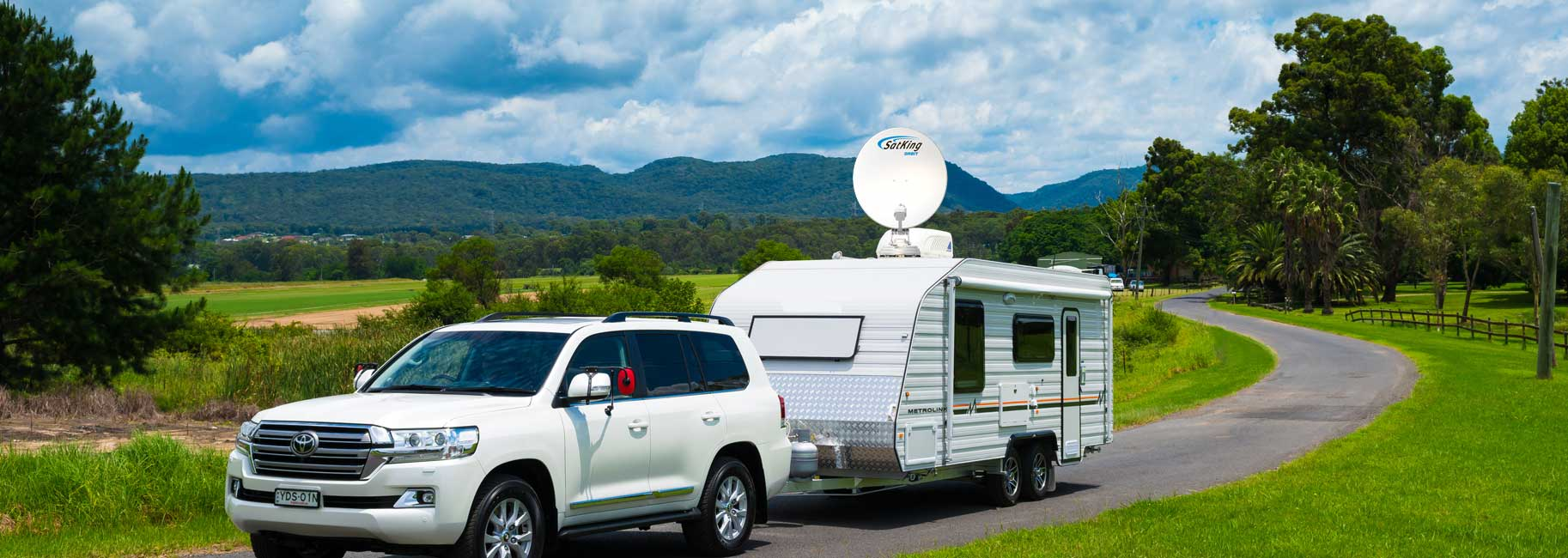 TV Satellite Dish for Caravan